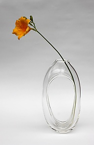 Tall Loop Vase in Clear by Nanda Soderberg (Art Glass Vase)
