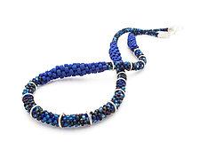 Short Woven Necklace by Claudia Fajardo (Beaded Necklace)