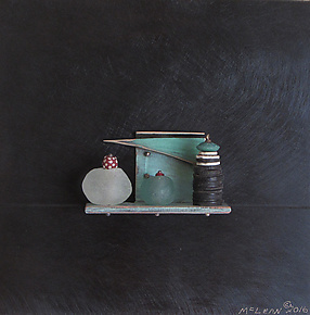 Bronze Still Life 57 by Jack McLean and Alice McLean (Metal Wall Sculpture)