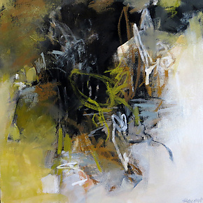 Organic Abstraction by Debora  Stewart (Oil Painting)