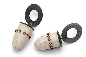 Lantern Earrings by Kathleen Dustin (Polymer Clay Earrings)