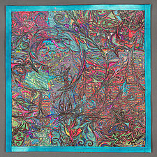 Hurricane Map 1 by Kim H. Ritter (Fiber Wall Hanging)