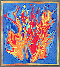 Fire 2 by Kim H. Ritter (Fiber Wall Hanging)