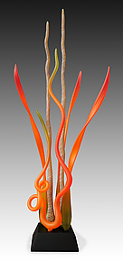 Dancing In The Coral Gardens by Warner Whitfield and Beatriz Kelemen (Art Glass Sculpture)