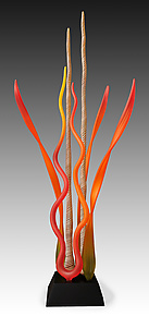 Coral Tango Garden by Warner Whitfield and Beatriz Kelemen (Art Glass Sculpture)