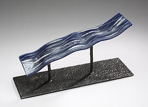 River Shadows by Denise Bohart Brown (Art Glass Sculpture)