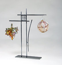 Oak Park Ornament Display by Ken Girardini and Julie Girardini (Metal Ornament Stand)