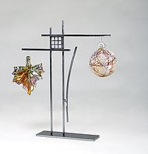 Oak Park Ornament Display by Ken Girardini and Julie Girardini (Metal Ornament Stand)