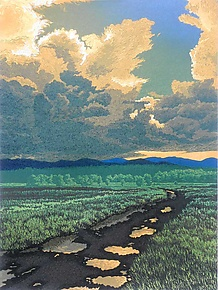 After The Storm by William Hays (Linocut Print)