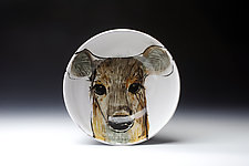 Deer Bowl by Eileen de Rosas (Ceramic Bowl)