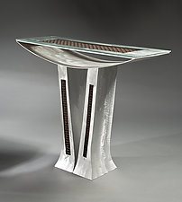 Curved Space by Jeffrey Brown (Metal Console Table)