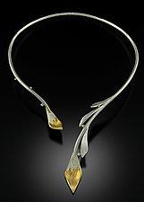 Vine Necklace by Rosario Garcia (Gold, Silver & Stone Necklace)