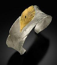 Banana Leaf Bracelet by Rosario Garcia (Gold, Silver & Stone Bracelet)