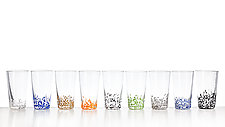 Large Star Tumblers by Aaron Baigelman (Art Glass Drinkware)