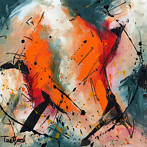 Abstract Art Forty-Seven by Lynne Taetzsch (Acrylic Painting)