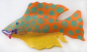 Orange Fiesta by Byron Williamson (Ceramic Wall Sculpture)