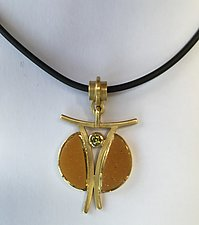 Butterfly Pendant by Ilene Schwartz (Gold & Stone Necklace)