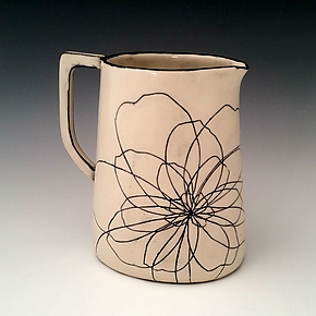 Peony Pitcher by Whitney Smith (Ceramic Pitcher)