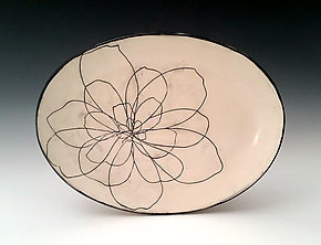 Peony Serving Platter by Whitney Smith (Ceramic Platter)