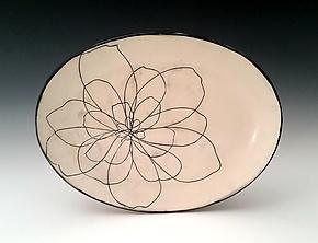Peony Serving Platter by Whitney Smith (Ceramic Platter)