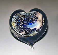 Galaxy Heart Paperweight by Robert Burch (Art Glass Paperweight)
