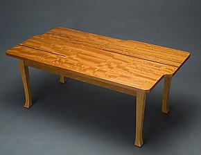 Coffee Table with Inlay by David Kellum (Wood Coffee Table)