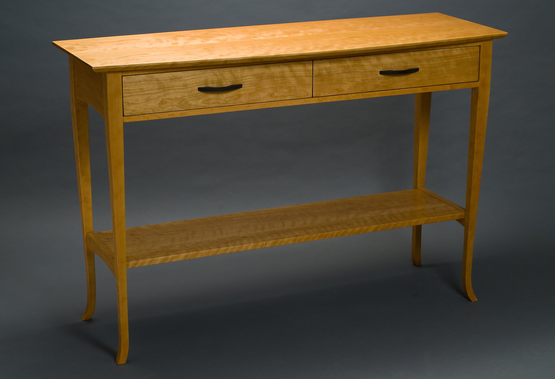 Cherry sideboard by david kellum wood console table