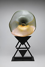 Desert Rose by Janet Nicholson and Rick Nicholson (Art Glass Sculpture)