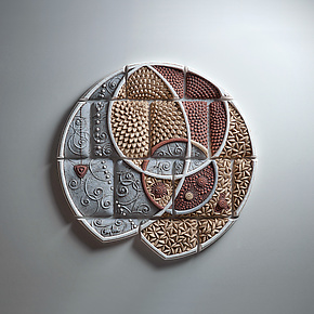 Arc Kernel by Christopher Gryder (Ceramic Wall Sculpture)