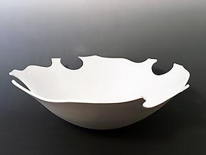 Multi-Notched Pristine Bowl by Jean Elton (Ceramic Bowl)
