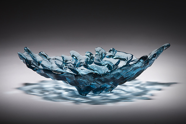 Small Sapphire Blue Water Bowl
