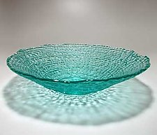 Mega Epidavros Bowl by Hudson Beach Glass (Art Glass Bowl)