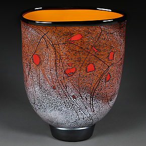 Autumn Abstract II by Eric Bladholm (Art Glass Vessel)