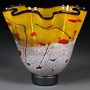 Luminous Lemon II by Eric Bladholm (Art Glass Bowl)