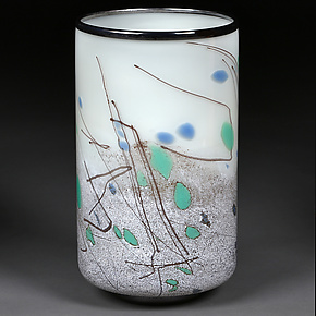 Intrepid Ivory by Eric Bladholm (Art Glass Vessel)