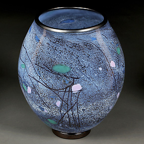 Stormy Sapphire II by Eric Bladholm (Art Glass Vessel)