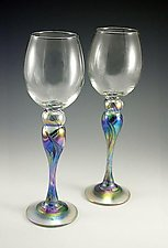 Wine Glasses by Mark Rosenbaum (Art Glass Goblets)