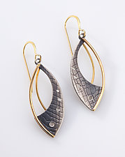 Gold Layered Earrings by Megan Clark (Gold & Silver Earrings)