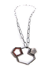 Garnet Crystal Study by Erica Stankwytch Bailey (Silver & Stone Necklace)