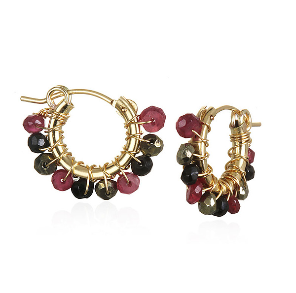 Small Ruby/Spinel Hoops