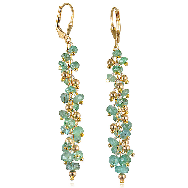 Emerald Waterfall Earrings