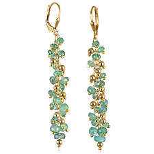 Emerald Waterfall Earrings by Suzanne Q Evon (Gold & Stone Earrings)