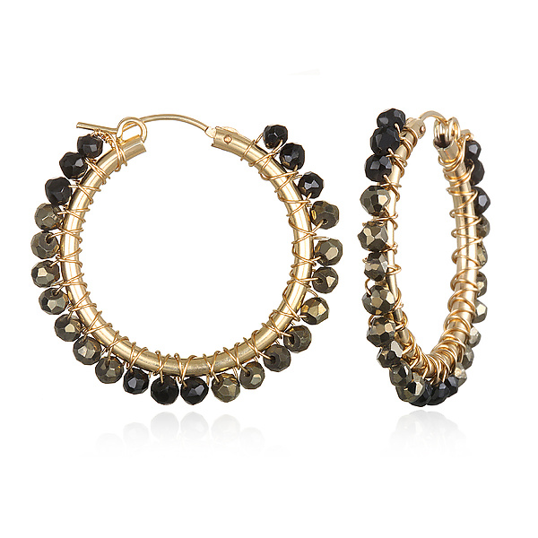 Medium Spinel Hoops