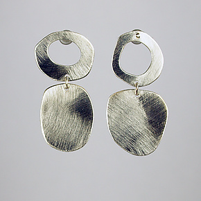 Mod Silver Earrings by Beth Novak (Silver Earrings)