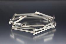 Sticks Bangle by Danielle Miller (Silver Bracelet)