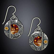Autumn Earrings by Dawn Estrin (Silver & Stone Earrings)