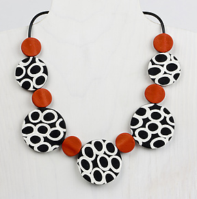 Nina Necklace by Klara Borbas (Polymer Clay Necklace)
