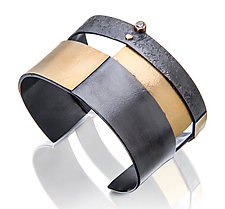 Intersection Cuff by Sydney Lynch (Gold, Silver & Stone Bracelet)