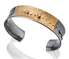 Golden Galaxy Cuff by Sydney Lynch (Gold, Silver & Stone Bracelet)