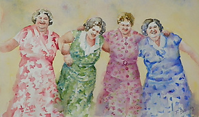 Let's Dance by Terrece Beesley (Watercolor Painting)